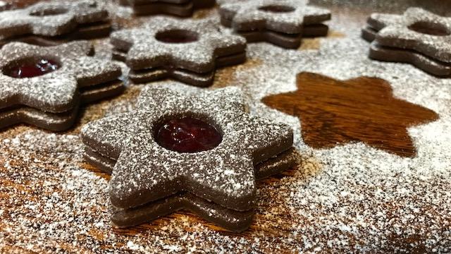 Linecké koláčiky kakaové